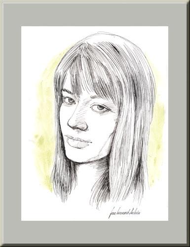 Portraits au crayon de Françoise Hardy Hardy1